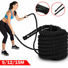 Battle Power Rope 38mm Training Battling Sport Exercise Fitness Gym BOOTCAMP