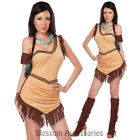 CL238 Native American Beauty Pocahontas Indian Woman Wild West Western Costume