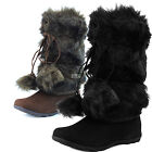 Woman Ankle High Comfortable Cowboy Leg Warmer PomPom Slouch Boot Winter Booties
