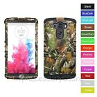 For LG G3 Camo Camouflage Hard & Silicone Hybrid Rugged Impact Phone Case Cover