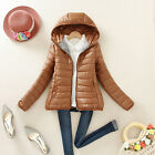 PRETTY Women's Candy Color Cotton Coat Hooded Short Jacket Loose Overcoat LA