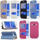 Flip Dual View Window Leather Case Cover Stand fr Samsung Galaxy Ace 4 SM-G357FZ