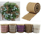 6cm x 2M Natural Hessian Lace Vintage Rustic Burlap Ribbon Wed Party Gift Decor
