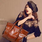 Fashion Ladies Womens Vintage Leather Large Handbags Shoulder Shopper Bags Tote