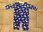 NWT Carters 1 Pc Romper Outfit Boys Blue Tigers Zebras 3 6 9 mo