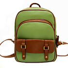 Preppy Leather like Backpacks Lovely Women Girls Patchwork Satchel Shoulder Bag