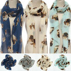 Large Women Lady Warm Animal Pugs Dog Print Wrap Scarf Shawl Stole Pashmina