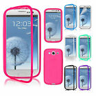 CHIC Slim Flip TPU Wrap Up Phone Case Cover For Samsung Galaxy S3 i9300 8 Colors