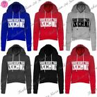 Womens Ladies More Issues Than Vogue Print Fleece Crop Hoodie Hooded Hoody Tops
