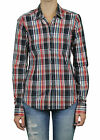 STEVEN ALAN Black & Red Plaid Reverse Seam Button Down Shirt WST03CT NWT $158