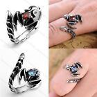 Men's Women Gothic Scorpion King Cubic Zirconia 316L Stainless Steel Ring Punk