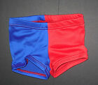 NWT Patriotic Jazz Tap Dance Red Royal Two Toned Spandex Shorts Ladies Girls Szs