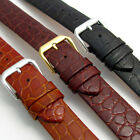 CONDOR Slim Padded Leather Watch Strap Band Croc Grain 18mm 20mm 244R