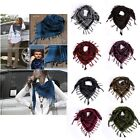 12 Colors Scarf Pashmina Scotland Check Stole Warm Plaid Shawl Tassel