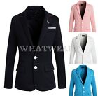 Men's Solid Color Stylish Pocket Design Slim Fit Coat Blazer Suits J0655 WFR