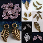 Wholesale Tibetan Silver Bronze Copper Leaf Leaves Pendant Charms DIY Findings