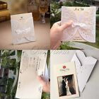 4 Styles Vintage Floral Cut Wedding Invitation Cards Free Envelopes Seals Supply