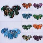 42mm-50mm Lotus gemstone pendant beads set For necklace design