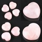 Heart Stone Rose Quartz Healing Crystal Pink Gemstone Home Office Decor Display