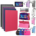 """Slim Leather Folio Stand Case Accessory For E-Fun Nextbook 8"""" NXW8QC16G WINS 8.1"""