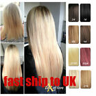 Full Head One Piece Clip In 100% Remy Human Hair Extensions Hair pieces 100g 16""