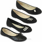 Ladies Ballerina Shoes Womens Flat Pumps Ballet Diamante Party Dolly Slip On New