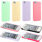 New Pastel Cute Ice Cream Candy Color Glossy Hard Cover Case For iPhone 5 5G 5S