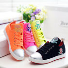 NEW womens Fashion Sneakers School Skull Skate Shoes Lace Up Canvas shoes Preppy