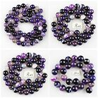 K60745 6mm 8mm 14mm Gemstone purple agate ball loose beads,more size offer