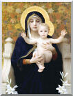 The Virgin of the Lilies by William Bouguereau Vintage Repro Stretched Art Print