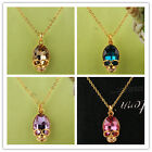 New 14k GoldFilled Austrian Crystal Skull  Pendant Necklace Jewelry In 6 Color