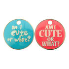 """Personalised Engraved """"AM I CUTE OR WHAT?"""" 23mm Pet Tag-Pink/Blue-Free Engraving"""