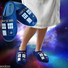 Mens Ladies Official Doctor Who Tardis Slippers Shoe Sizes 5-11