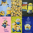 Despicable Me Minions Fleece Blanket Bed Throw New Gift Dave Cupcake 3 Designs