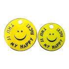 "Personalised Engraved ""THIS IS MY HAPPY FACE!"" Pet Tag-2 Sizes-Free Engraving"