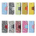 Magnetic Flip QR Code Pattern PU Leather Hard Back Case Cover Stand fr iPhone 5C