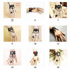 Sexy Pretty Lace Gothic Vintage Bracelet Ring Wrist Cuffs Fingerless Glove New