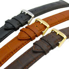 Padded Leather Watch Band Strap Croc Grain Super-Long XXL 18mm 20mm 22mm 24mm