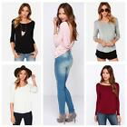 Fashion Women Long Sleeve Pleated Cross Wrap Draped Backless Casual T-Shirt Tops