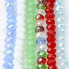 Faceted Crystal Glass Loose Beads Fit Jewelry Making DIY Findings Fashion