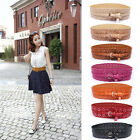 Fashion Woman Elegant PU Leather Hollow Flower Lace Bodycon Waist Belt Waistband