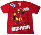 Boys AVENGERS ASSEMBLE IRON MAN cotton t-shirt Sz 6-8-10-12 Age 4-8yrs Free Ship
