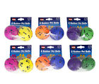 World of Pets Pack of 2 Rubber Pet Balls for Hours of Fun