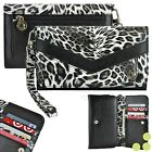 Leopard Luxury Leather Purse Wallet Case Cover for iPhone / Smart Phone
