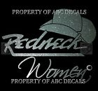 VRS Country Hat REDNECK WOMAN Cowgirl Metal Decal Sticker