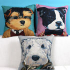 "Cool Dog Cartoon Animal Office Decor Pillow Case Cushion Cover Square 18"" Linen"