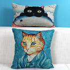 "Animal Cat Cartoon Decor Pillow Case Cushion Cover Square 18"" Oblong 20"" Linen"