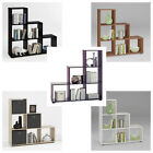 MEGA1 Stepped Shelving Unit 6 Compartments White/Black/Purple/Walnut/Oak