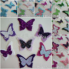 Wool Blend Felt & Glitter Fabric Butterflies - 4 Per Pack