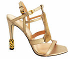 Calvin Klein Olga Metallic Hairca Peep Toe Strap Womens Sandals Gold (J0099 U57)